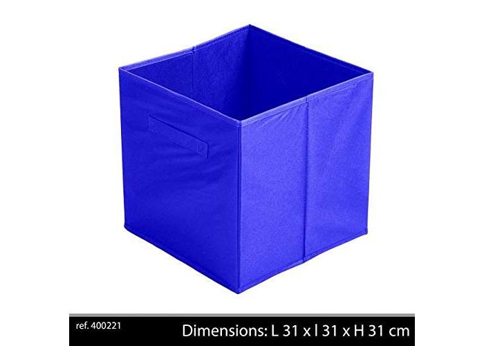 Import Distribution Fornord FABRIC STORAGE CUBE 31X 31 X31 CM ROYAL BLUE - 1