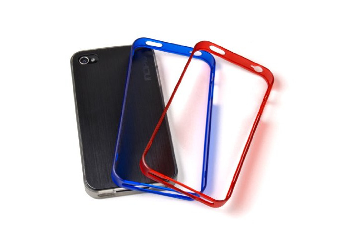 Incipio Trilogy Bumpers for iPhone 4/4S (Pack of 3) - Black/Red/Blue - 1