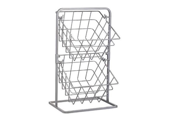 Industrial Kitchen 2 Tier Storage Baskets - 1