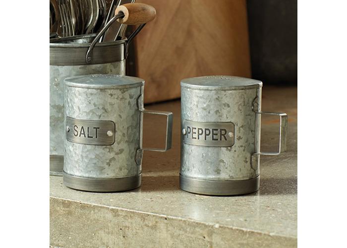Industrial Kitchen Galvanised Steel Pepper Shaker - 2