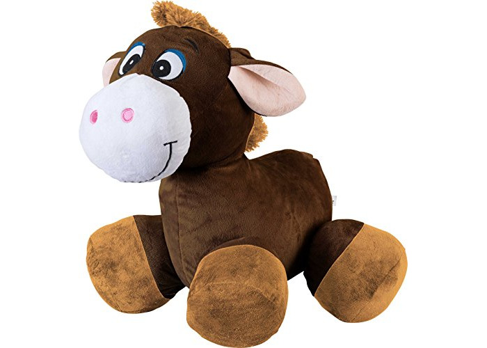 Inflate-A-Mals INF-RO-HRS-EU Ride on Horse, Brown - 1