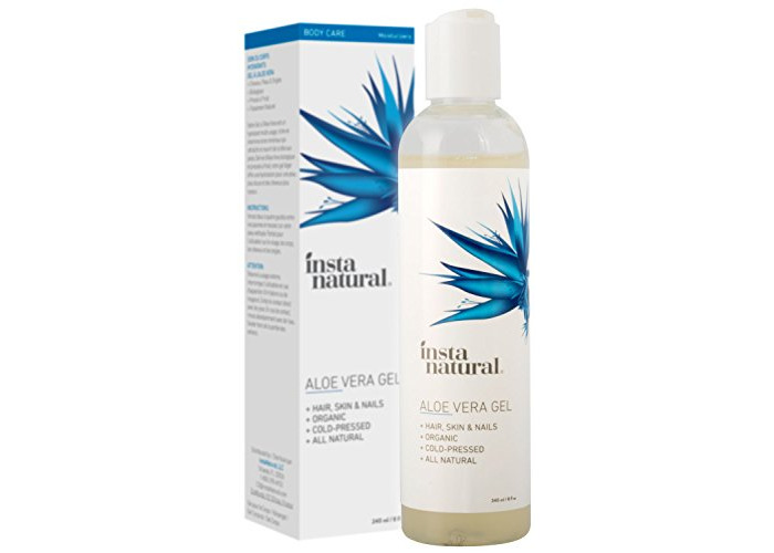 InstaNatural Aloe Vera Gel - Pure & Organic Moisturizing Treatment for Men & Women - For Sunburn, Breakouts, Razor Bumps & More Relief - Natural After Sun, Insect Bites & Scratches Skin Care - 240 ml - 1
