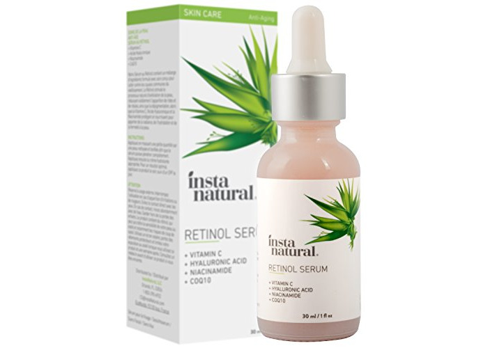 InstaNatural Retinol Serum - Anti Wrinkle Anti Aging Facial Serum - Helps Reduce Appearance of Puffiness, Wrinkles, Crows Feet & Fine Lines - with Vitamin C & Hyaluronic Acid - InstaNatural - 1 oz - 1