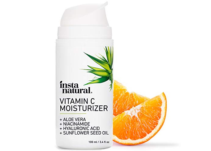 InstaNatural Vitamin C Moisturiser Cream - Facial Anti Aging & Wrinkle Reducing Lotion for Men & Women - With Hyaluronic Acid & Organic Jojoba Oil - Hydrating for Dry, Sensitive, & Oily Skin – 100 ml - 1