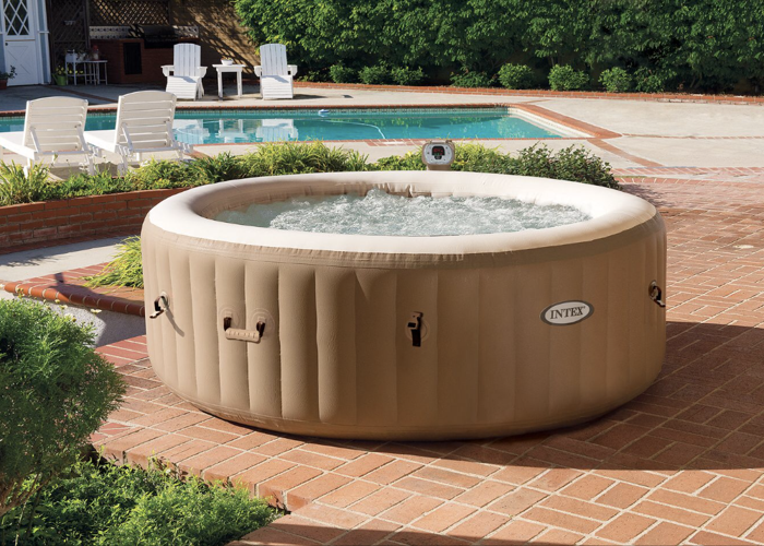 Intex Inflatable Bubble Hot Tub 4 Person.  - 1