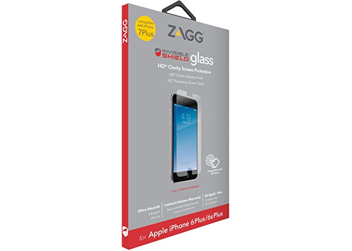 InvisibleSHIELD Glass Screen Protector for iPhone 8 Plus/7 Plus/6 Plus/6s Plus - Clear - 1