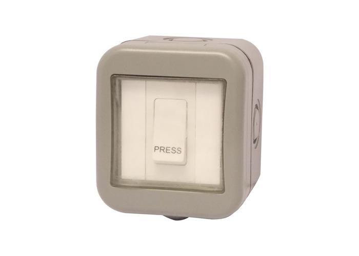 IP55 Weatherproof 10AX Single Retractive One Way Switch - PRESS - 1
