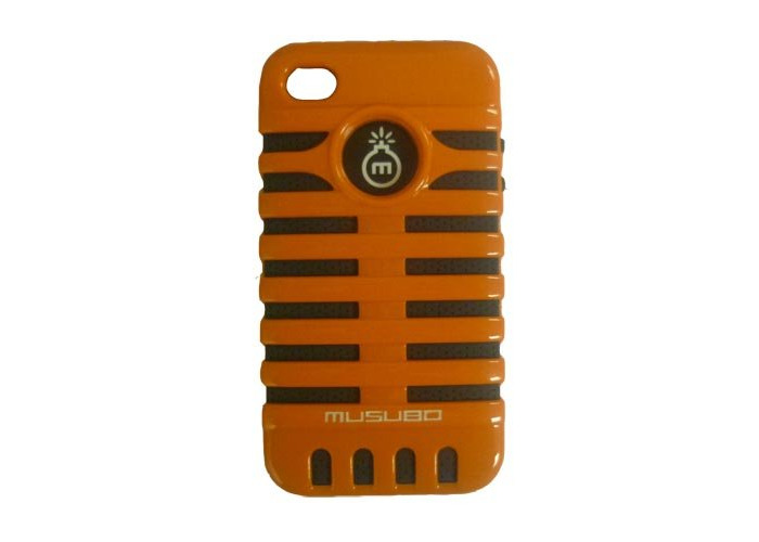 iPhone 4/4s Musubo Elvis Orange Hard and Soft Reversable Protective Phone Cover/Case - 1