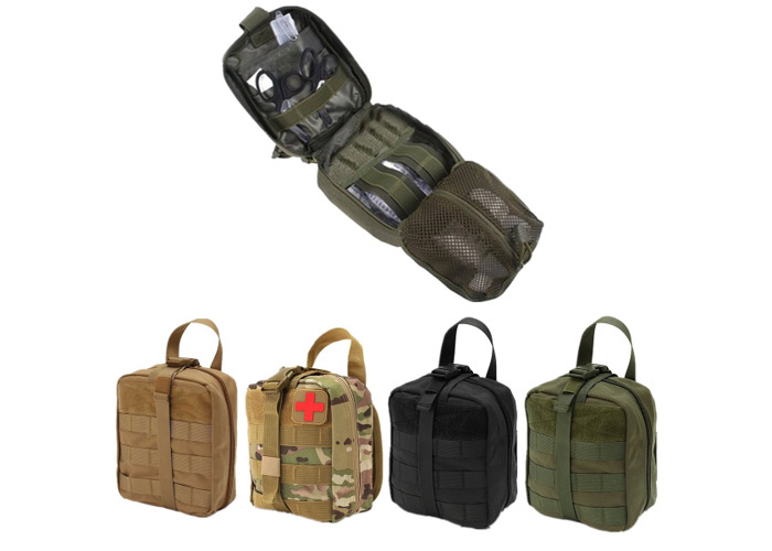 IPRee® EDC 900D Nylon Tactical Molle Bag Medical First Aid Utility Emergency Storage Pouch - 2