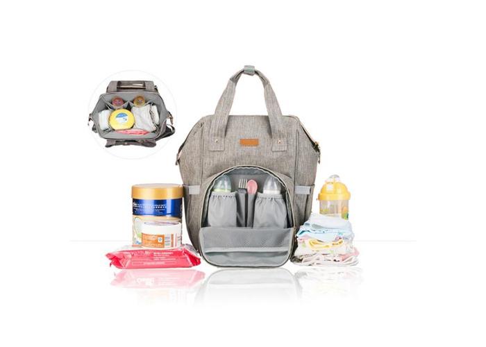 IPRee® Waterproof Mummy Backpack Travel Maternity Nappy Diaper Bag Large Capacity Baby Bag - 1