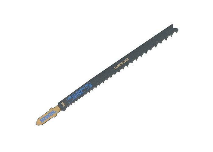 Irwin 10504232 Jigsaw Blades Metal & Wood Cutting T345XF Pack of 5 - 1