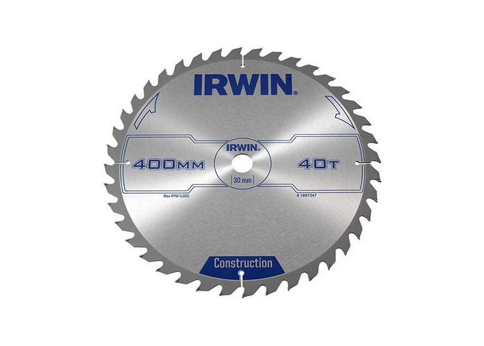 Irwin 1897347 Circular Saw Blade 400 x 30mm x 40T ATB - 1
