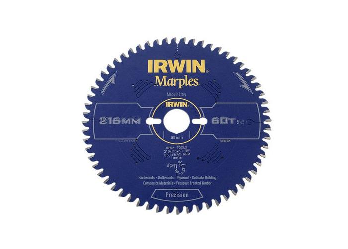 Irwin 1897455 Marples Mitre Saw Blade For Wood 216mm 60 Teeth - 1