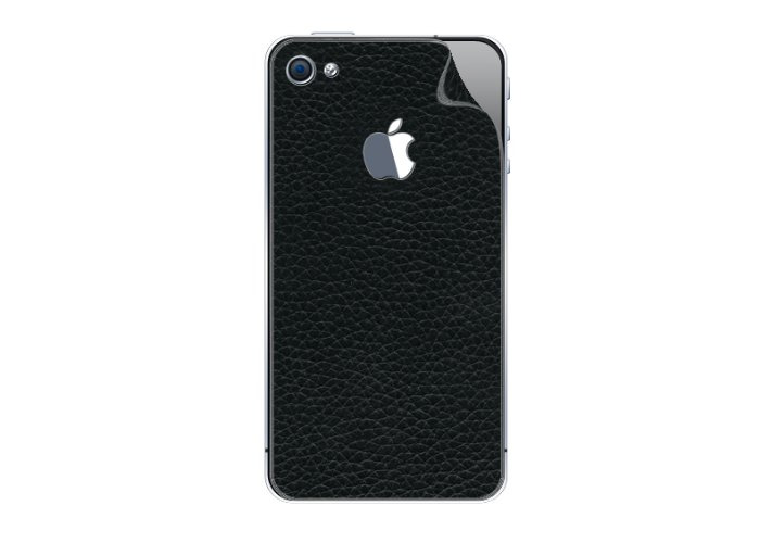 iStar Leathercraft Back Cover Repositionable Self-Adhesive Grained Leather with Screen Protector for iPhone 4 - 1