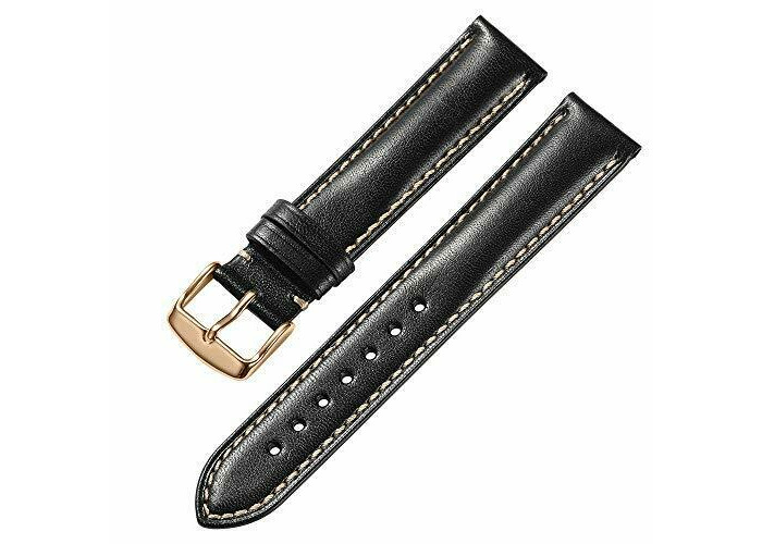 iStrap 18mm 19mm 20mm 21mm 22mm Leather Watch Strap Band Replacement Padded Calf - 1
