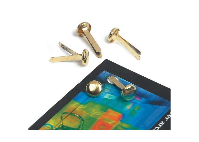 IXL Premier-Grip Paper Fasteners Brassed Steel 50mm Ref 863100193-62 [Pack 200] - 1