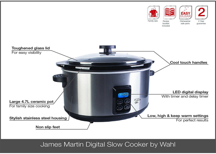 James Martin by Wahl ZX929 Digital Slow Cooker - 2