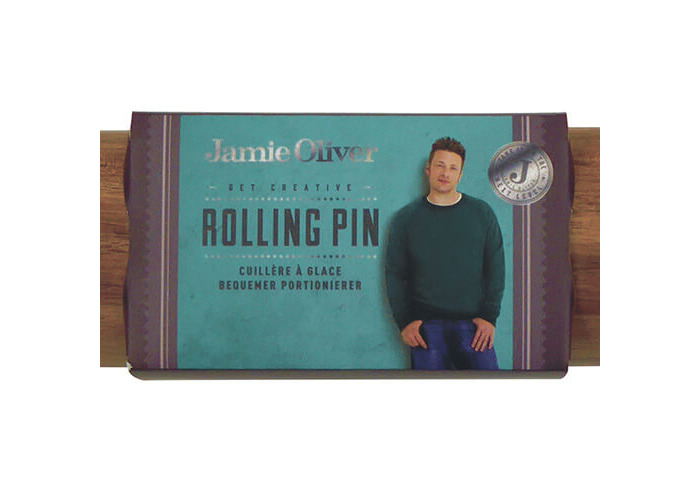 Jamie Oliver JB3305 Bakeware Range Rolling Pin - Acacia Wood, Harbour Blue - 2