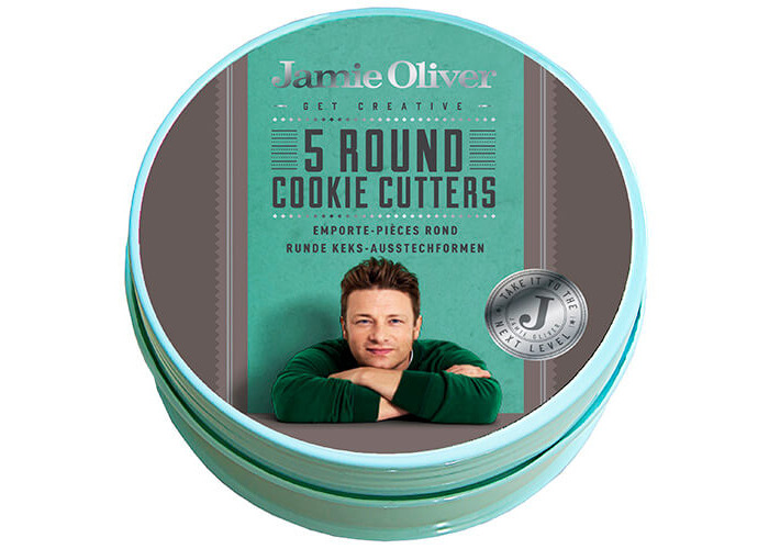 Jamie Oliver JB3800 Bakeware Range Round Cookie Cutters - Stainless Steel, Harbour Blue, Set of 5 - 2