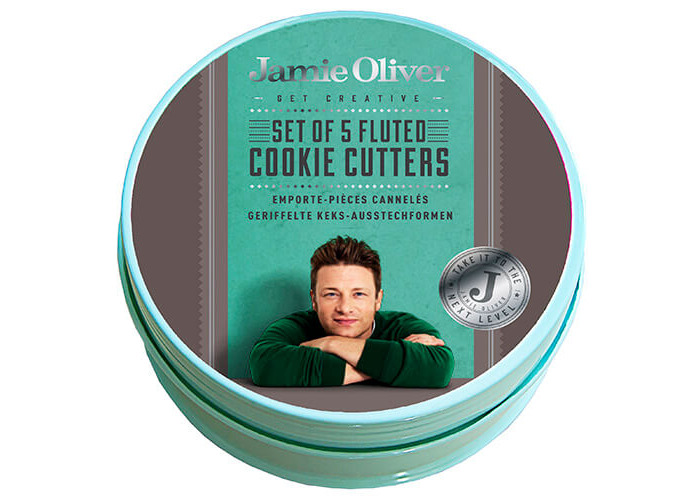 Jamie Oliver JB3810 Bakeware Range Fluted Round Cookie Cutters - Stainless Steel, Harbour Blue, Set of 5 - 2