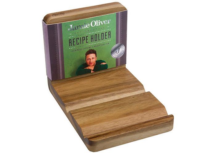 Jamie Oliver JB8801 Bakeware Range Recipe Book and Tablet Holder - Acacia Wood, Natural - 2