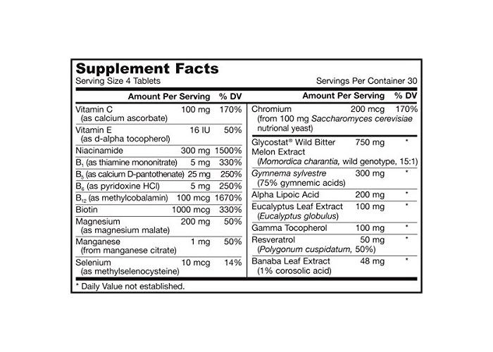 Jarrow Formulas Glucose Optimizer Multivitamin Tablets, 120-Count - 2