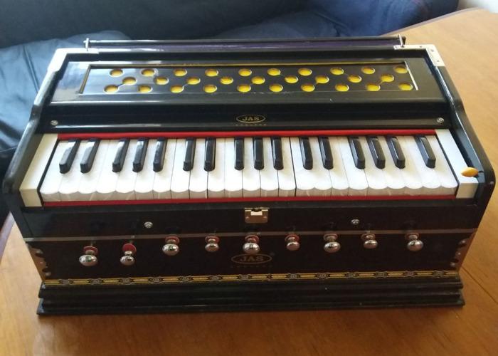 JAS Harmonium, Deluxe Model, Brass Reeds, Standard Body - 2