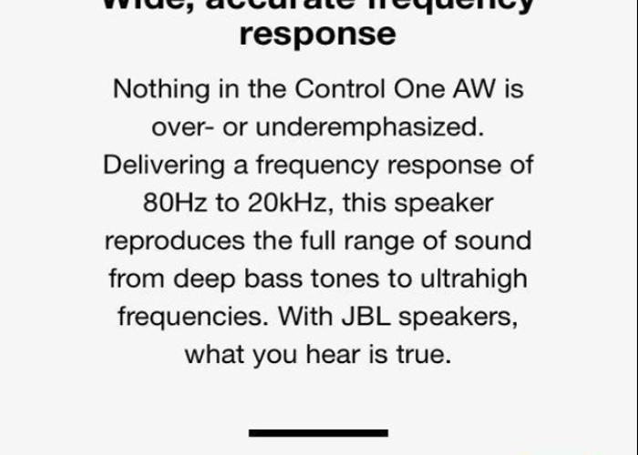 JBL CONTROL ONE SPEAKERS - 2
