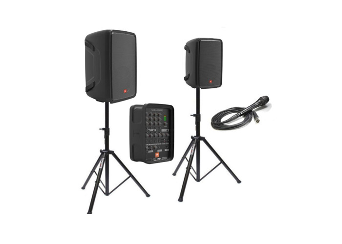 rent jbl eon208p portable pa system speakers and microphone in london fat llama. Black Bedroom Furniture Sets. Home Design Ideas