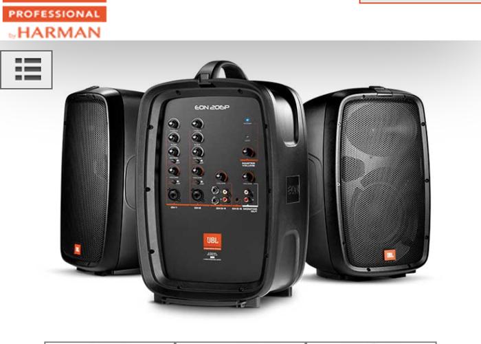 JBL Pro PA System + speaker stands - 1