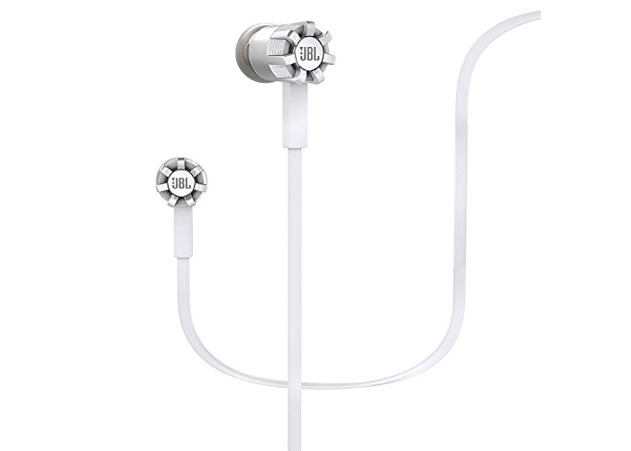 JBL Synchros S200A Audio In-Ear Headphones with 1-Button Remote/Mic and PureBass Performance Tecnology Compatible Android Devices - White - 1