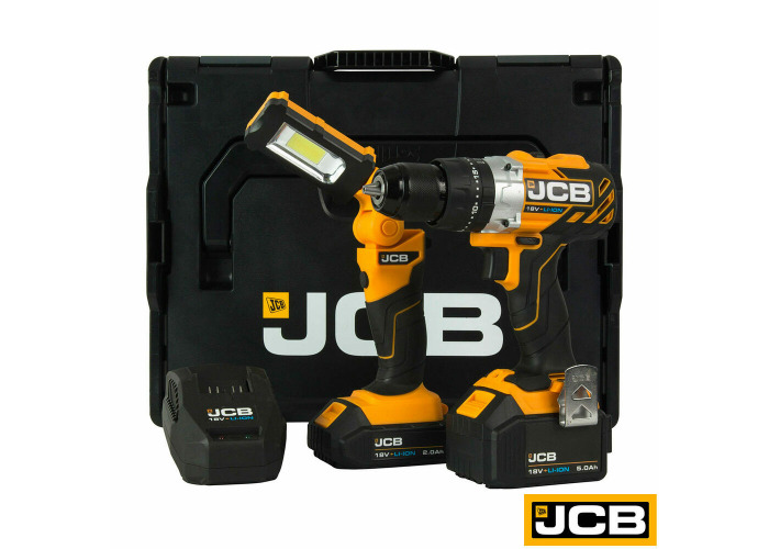 JCB Tools Professional 18V Brushless Combi Drill Kit with2 Lithium-ion Batteries - 2