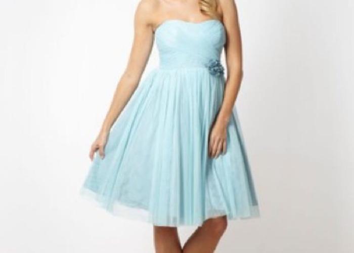 Jenny Packham Pale Blue Mesh Corsage Bridesmaid Dress - 1
