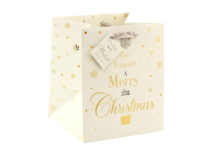 Jewelled Christmas Gift Bag Small - 1