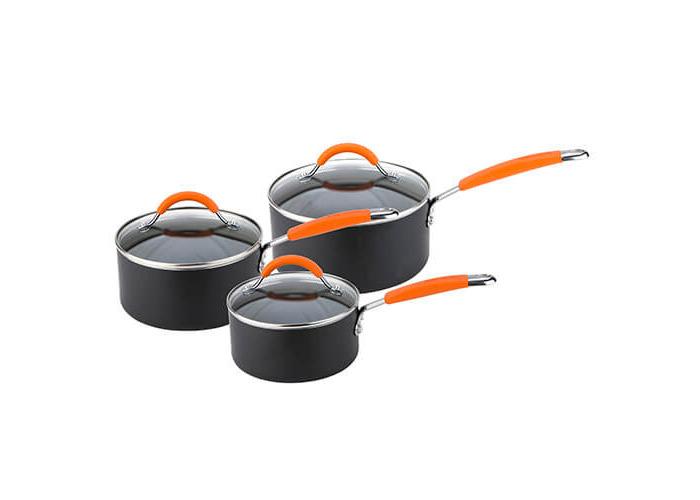 Joe Wicks Easy Release Aluminium Non-Stick cookware - 3 Piece Saucepan Set - 1