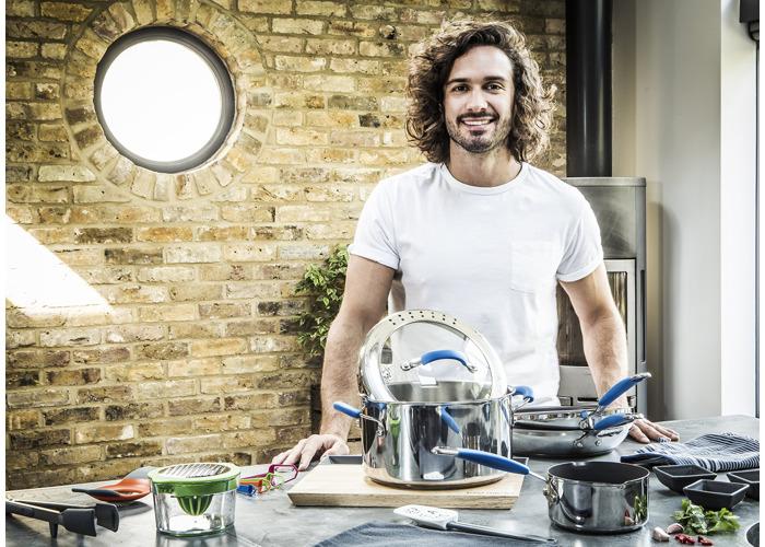 Joe Wicks Quick & Even Stainless Steel Non-Stick Cookware - 24cm Frypan - 2