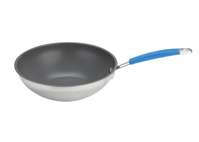 Joe Wicks Quick & Even stainless steel non-stick cookware - 26cm stirfry - 2