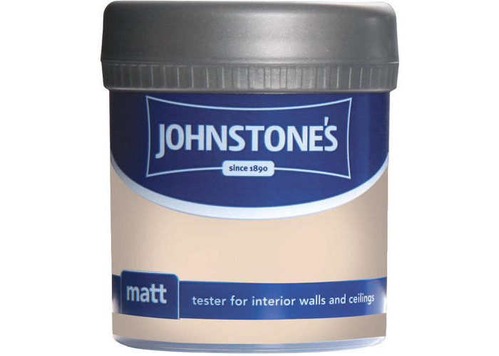 Johnstones Vinyl Matt Emulsion Tester Pot Classic Cream 75ml - 1