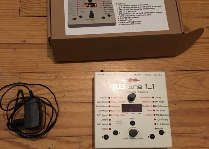 Jomox MBrane 11 Analog Percussion Synthesizer - 1