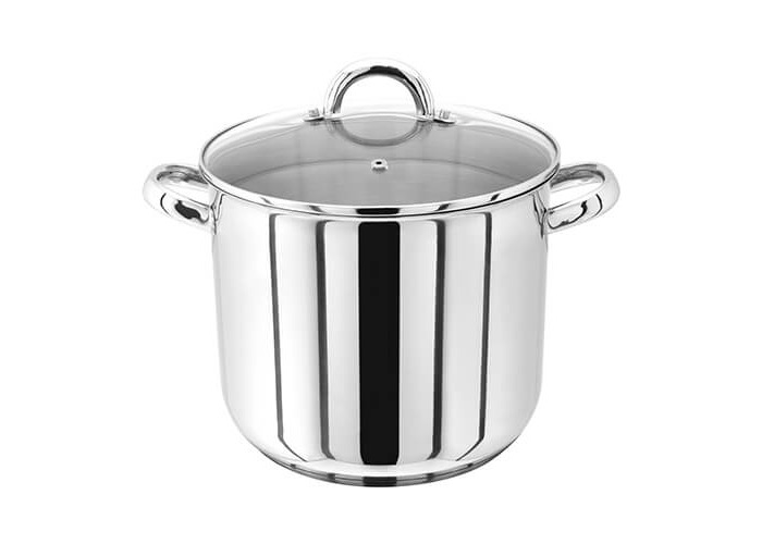 Judge 24cm Stainless Steel Stockpot With Vented Glass Lid - 1