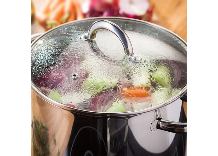 Judge 24cm Stainless Steel Stockpot With Vented Glass Lid - 2