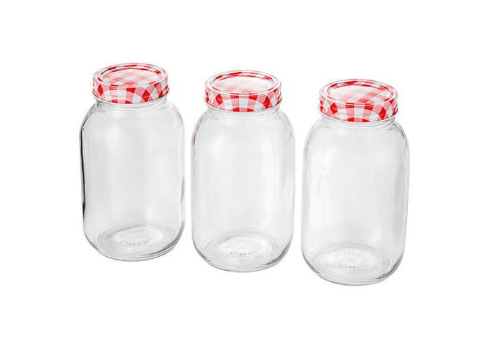 Judge 3 Piece Preserving Jar, 1L, Transparent - 1