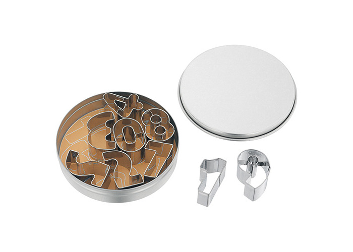 JUDGE 9 NUMBER CUTTERS AND STORAGE TIN IN STAINLESS STEE - 1
