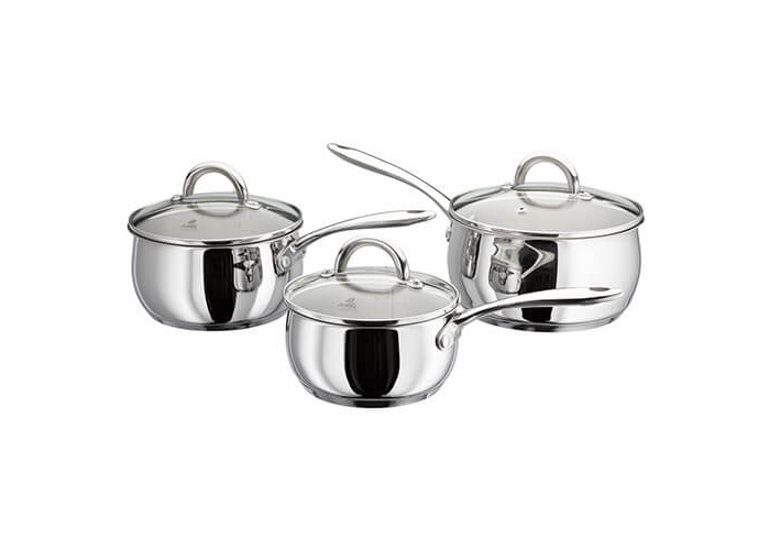 Judge Classic Mirror Polished Stainless Steel 3 Piece Saucepan Set - 1