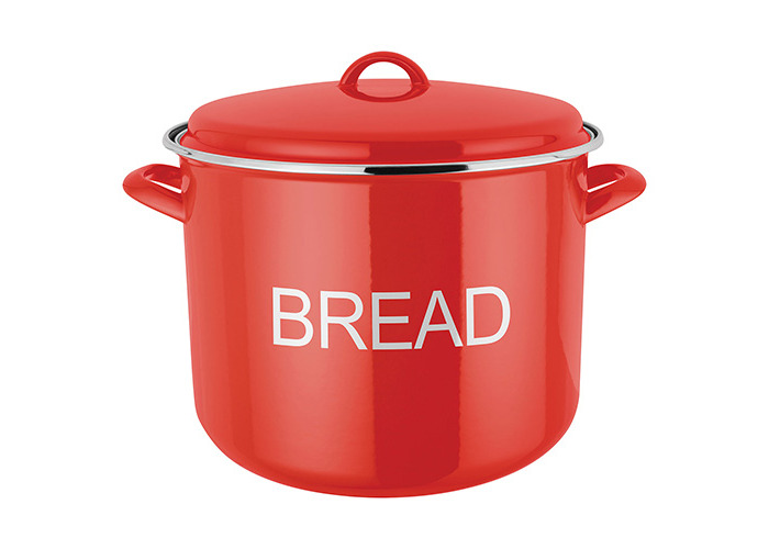 Judge Induction Red Bread Crock - 1