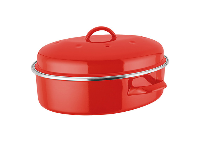 Judge Induction Red Oval Roaster - 1