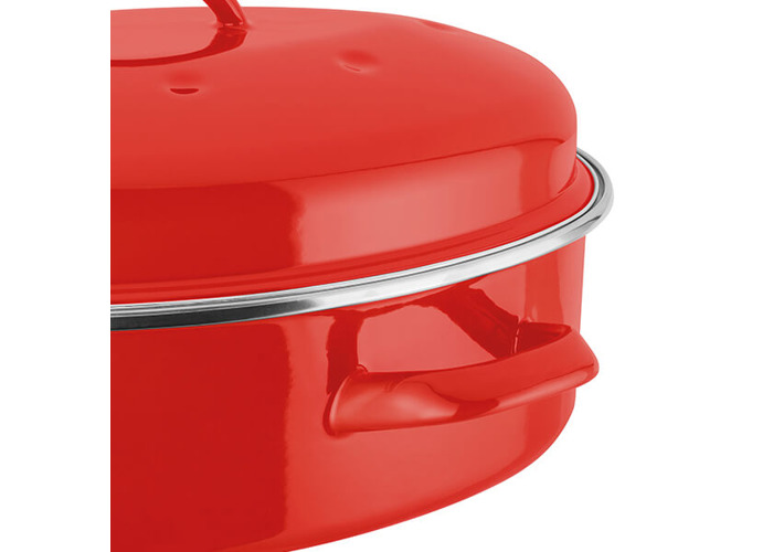 Judge Induction Red Oval Roaster - 2