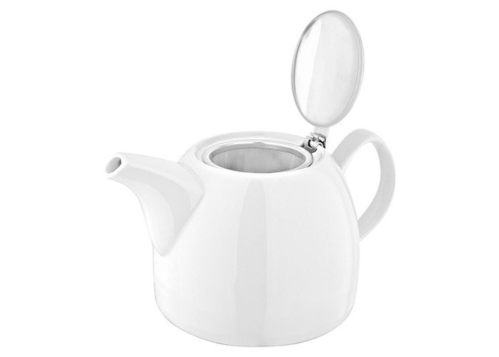 3 Cup // 600ml Judge Essentials White Porcelain Traditional Tea Serving Teapot Pot 3 Cup // 600ml