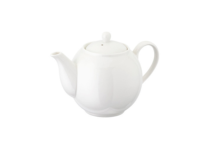 Judge White Porcelain Traditional Tea Serving Teapot Pot (500ml / 3 Cup) - 1
