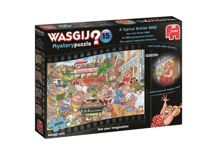 Jumbo 19163 Mystery 15 A Typical British BBQ Jigsaw Puzzle, Multi - 2